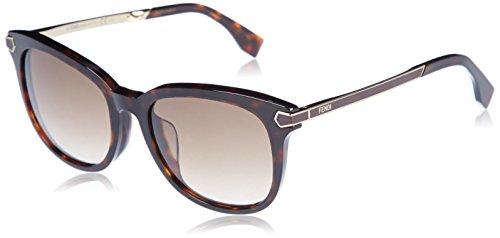 FENDI Sunglasses 0021/F/S 07UU Havana