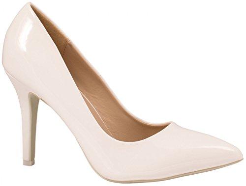 Talons Femmes Classique Weiß Chaussures Hauts Dentelle Soirée Escarpins tRx8Oxaq