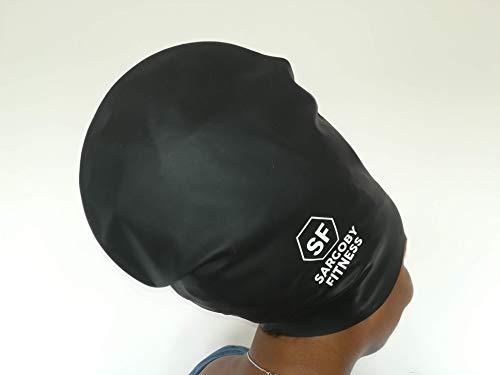 bf9babff5 Sargoby Fitness Extra Large Swim Cap for Long Hair Dreadlocks Braids ...
