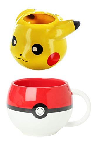 Pokemon Drinkware Set, Pokeball and Pikachu Molded Mugs