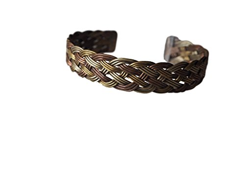 Handmade Twisted Three Metal Medicine/ Healing Bracelet From Nepal Adjustable