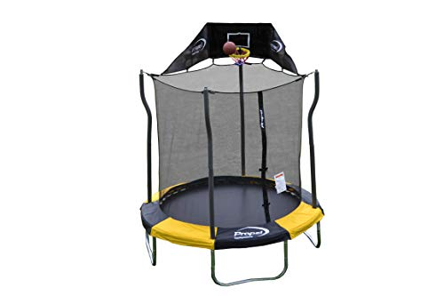 Propel Trampolines Indoor/Outdoor Trampoline with Enclosure,...