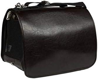 ペットキャリー 猫 犬、 旅行用にデザインされたペットクラブ用ソフトクレートバッグ、アウトドア用、キャットパピー小型ペット、ブラウンブラック (Color : Black, Size : M)