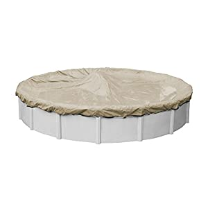 Robelle 3133-4 Premium Winter Pool Cover for Round Above Ground Swimming Pools, 33-ft. Round Pool