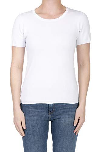 (SHOP DORDOR BW-055 Women's Short Sleeve Crewneck Slim Fit Knit Pullover Sweater White L)
