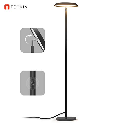 (LED Floor Lamp, Dimmable Modern Tall Floor Lamps, Industrial Office Floor Lamp Standing Pole Light, TECKIN Touch Control Reading Light for Living Rooms Bedrooms Offices,3000K Warm White, 20W,)