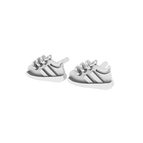 Dayna U Running Shoe Sterling Silver Stud Earrings