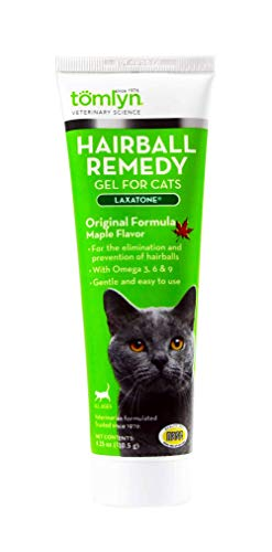 Tomlyn Laxatone Maple-Flavored Hairball Remedy Gel for Cats, 4.25oz