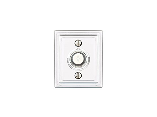 Polished Classic Chrome Rosette (Emtek DoorBell-American Classic 6 rosette options and 9 finish options (Wilshire Rosette, Polished Chrome US26))
