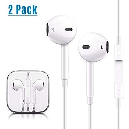 856b8a3620c 2 Pack Earphones/Headphones/Earbuds, HAOMUK 3.5 mm Earphones HD Sound Bass  with