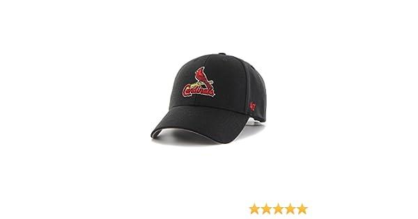 wholesale dealer 23995 ba233 Amazon.com   47 Brand MLB St Louis Cardinals Cap - Black  Clothing
