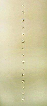 "GW Schleidt 80"" Long Stainless Steel Gazing Chain Home Décor Glass Ornament 15 balls"