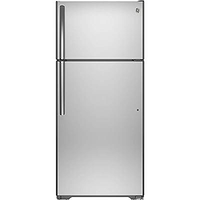 Ge REFRIGERATORS 1030510 15.5 Cu. ft. Top Freezer Refrigerator, Stainless Steel, Reversible Door Swing