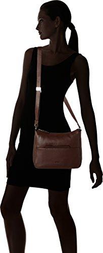 BREE Faro 2, Dark Brown, Cross Shoulder M - Bolso de hombro de Piel Mujer