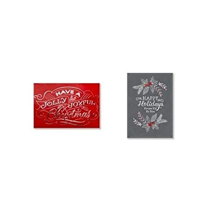 Amazon Hallmark Holiday And Christmas 50 Pack Assorted Cards For Business Of Greeting Office Products