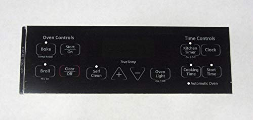 Oven Clock Overlay Pad WB27T11005 for GE ERC Range Control