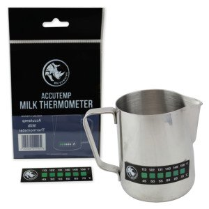 Rhino Milk Coffee Thermometer Sticker - Accutemp Adhesive Thermometer for Milk, Coffee by Rhinowares