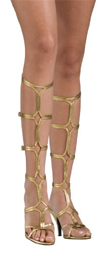 [Secret Wishes  Goddess Sandals, Gold, Large] (Grecian Sandals Costume)