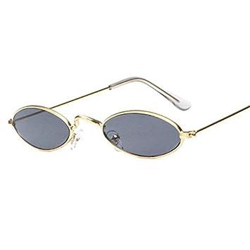 AAMOUSE Gafas de Sol Moda pequeñas Gafas de Sol ovaladas ...