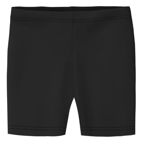 (City Threads Little Girls Underwear Bike Shorts in All Cotton Perfect for SPD and Sensitive Skin Sports Dance School Uniform, Black 4T)