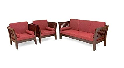 Mp Wood Furniture Indian Look Teak Wood Sofa Set With