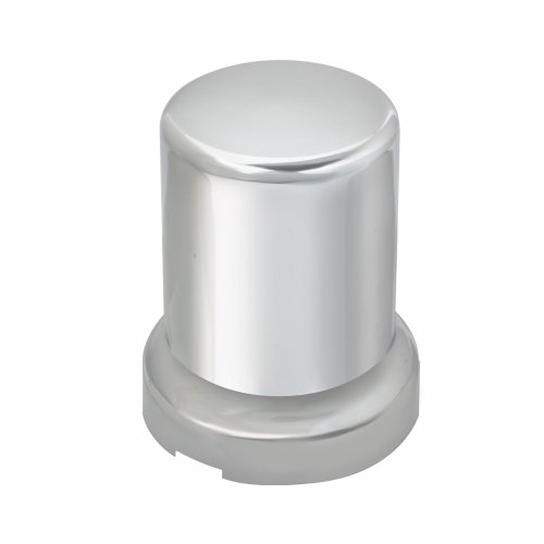 Grand General 10268SP Chrome 33mm x 2-3/8' Plastic Tube Push-On Nut Cover with Flange