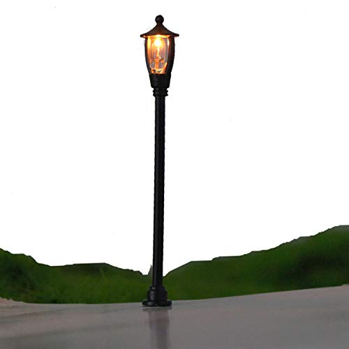 - SENREAL 20 Pcs 1:100 Scale Street Light Model Single Head Garden Park Lamppost Lamp