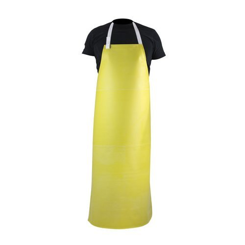 PGI 1026872 Brute Coated Apron, Nitrile (HYCAR), Rubber, 35'' Wide x 48'' Long, Yellow by PGI