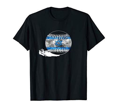 Vintage Baseball Israel Flag T-shirt Israelis Pride