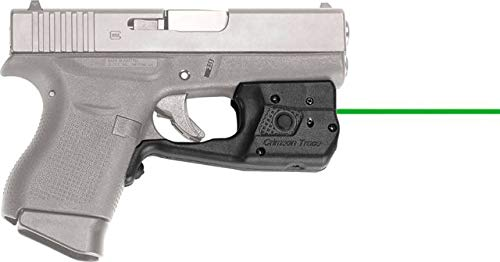 Crimson Trace LL-803G Laserguard Pro Tactical Flashlight and Laser Sight for Glock 42 & 43, Green -