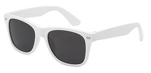 WebDeals - Kids Childrens 80's Classic Retro Sunglasses - Variety of styles and colors (White)