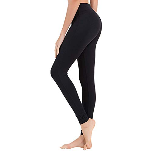 (High Waisted Leggings for Women - Opaque Slim Tummy Control Pants for Yoga Workout Running (1 Pack Black, Plus Size (US 12-24)))