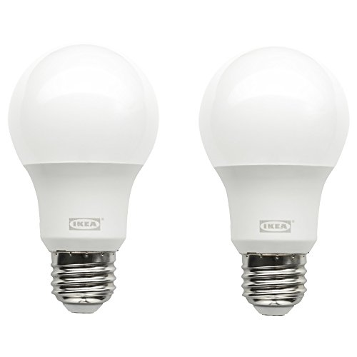 Ikea 703.216.63 Ryet LED Bulbs, E26 A19 2700K Warm Soft White, 600 lm, 7.5W (Pack of 2)