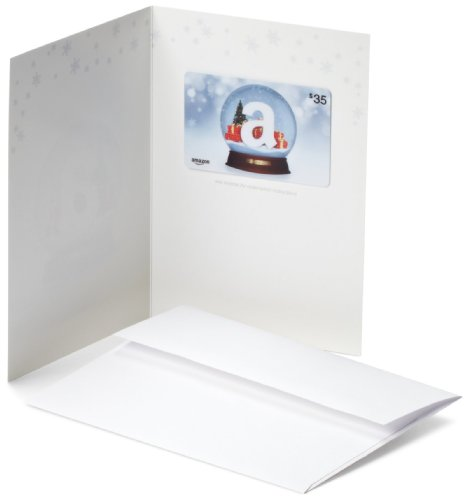 Amazon.com $35 Gift Card in a Greeting Card (Holiday Globe (Wish Gift Card)