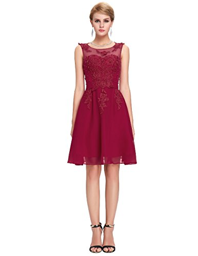 CoCogirls - Robe - Trapèze - Femme -  rouge - 50