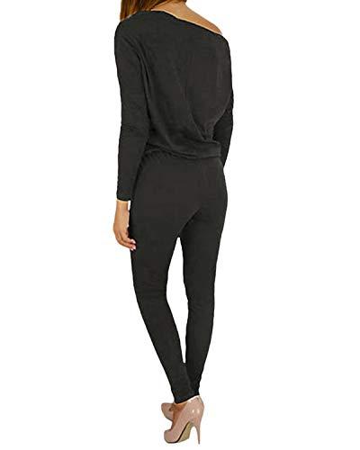 YOINS Femme Combinaison Pantalon Épaule Nue Combishort Long Sarouel Pantalon Taille Haute Jumpsuit Bustier Loungewear