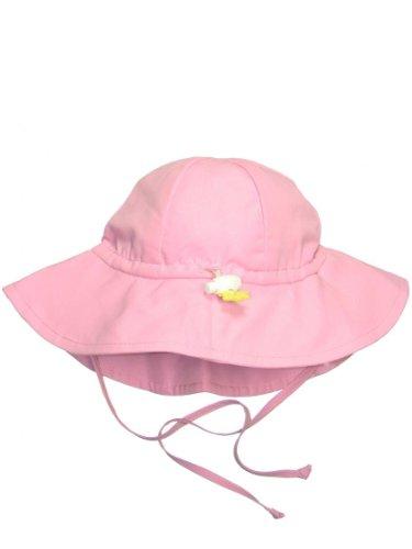 Iplay Baby Infant Toddler Unisex UPF 50 Solid Brim Sun Hat (Light Pink, 0-6 Months)