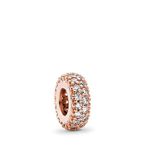 PANDORA Inspiration Within, Spacer Charm, PANDORA Rose, Clear Cubic Zirconia, One Size