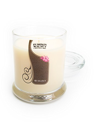 Shortie's Candle Company Pumpkin Walnut Cheesecake Candle - 6.5 Oz. Highly Scented Beige Jar Candle - Bakery Candles Collection (Walnut Cheesecake)