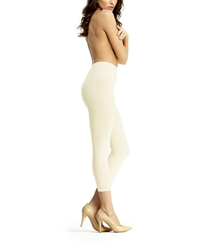 Capri Body Shaper (SlimMe Powerplay High Waist Control Leggings - Shapewear MSM-110 White Small)