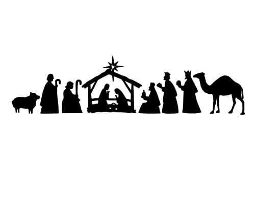 Amazon.com: Vinyl Nativity Manger Scene, Vinyl Christmas