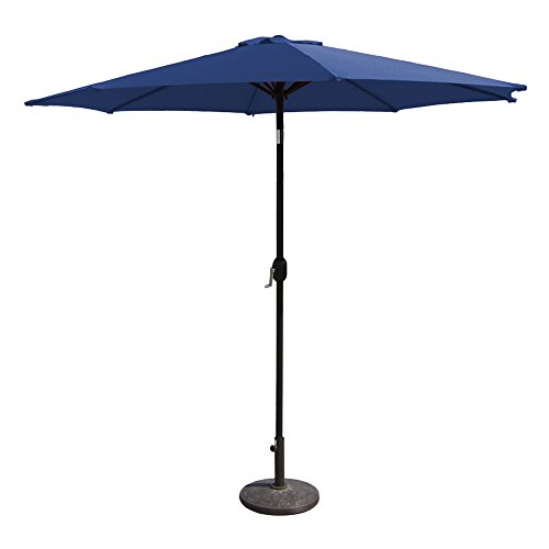 EmpireCovers PATUA2200B 8 Foot High Aluminum Patio Umbrella with 9 Foot Diameter – Polyester Canopy, Navy Blue