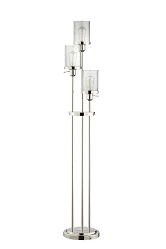 Catalina Lighting  20591-000 Marcella Polished Nickel Floor Lamp with Seeded Glass Shades, Bulbs ()
