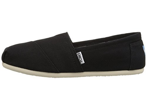 Toms Women's Classic Canvas (BLACK,) Slip-on Shoe - 9 B(M) -