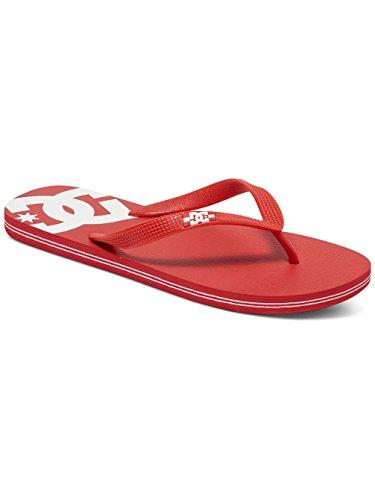 DC Shoes Spray Mens Shoe D0303272-1 - Chanclas de caucho para hombre Red/White