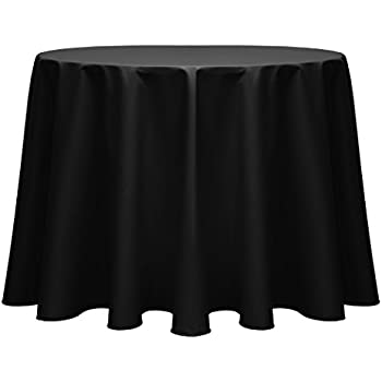 Ultimate Textile Poly Cotton Twill 60 Inch Round Tablecloth Black