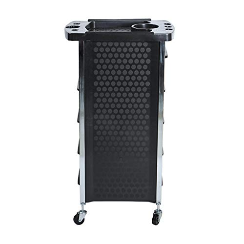 Beauty Storage Trolley Hairdresser Maintenance Carts Barber Shop Multi-Function Drawers Trolleys Hair Salon Perm Hair Dyeing Styling with Wheel Tool Car Black by Beauty Storage Trolley (Image #2)