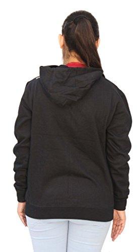 Romano - Sweat-shirt - Relaxed - Uni - Manches Longues - Femme Noir Noir