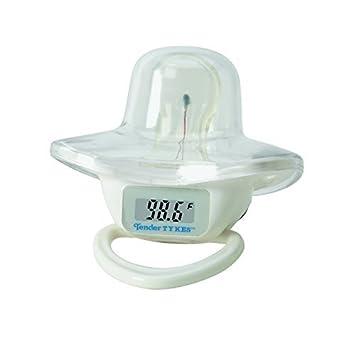 Impermeable Digital chupete termómetro con alarma Fiebre Musical para Bebés y niños, blanca