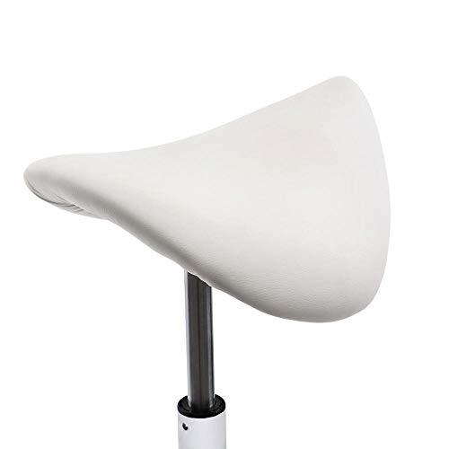 KOUPA justerbar hydraulisk sadelpall med hjul, PU-läder svängbar justerbar höjd stol, för medicinsk massagesalong kök spa utarbetande